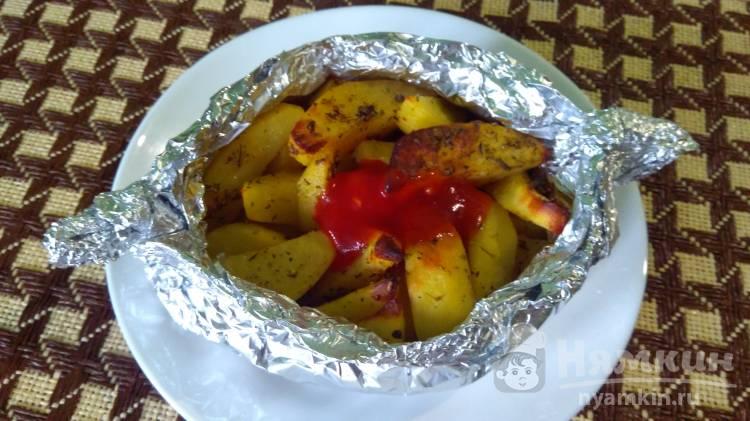 Картофель запеченный в лодочке