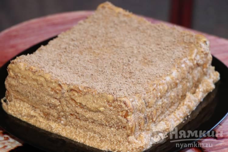 Шоколадный торт из печенья без выпечки