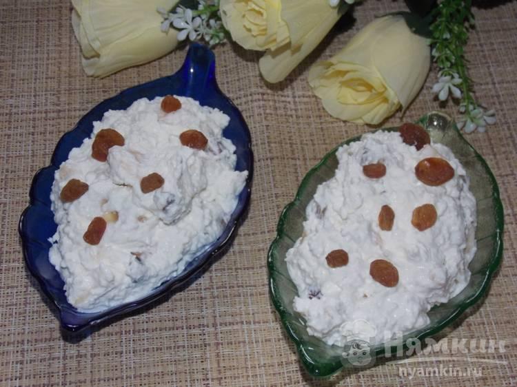 Полезный десерт из творога с кокосовой стружкой