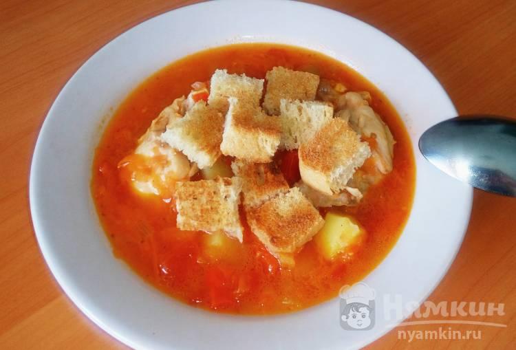 Суп из маринованного овощного салата