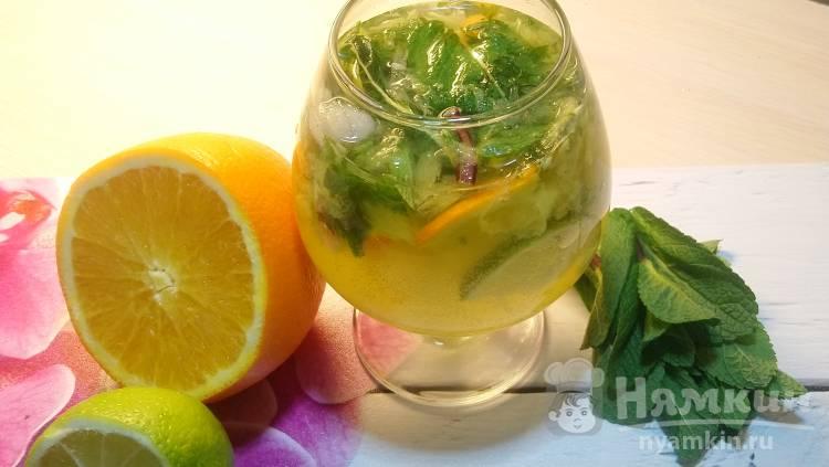 Полезный напиток из цитрусовых с имбирем и мятой