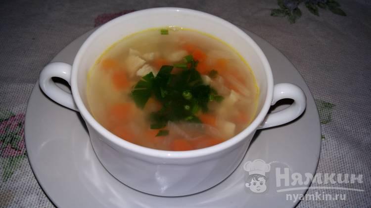 Диетический суп с курицей без картофеля