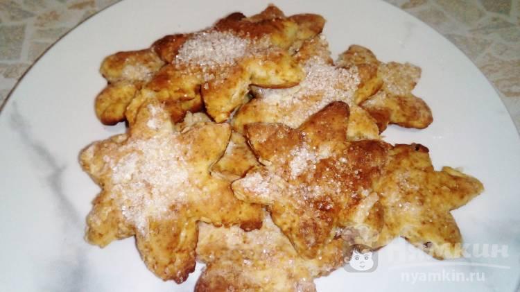 Нежное печенье с творожной массой и маргарином