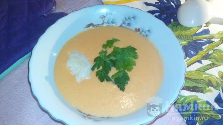 Суп-пюре из моркови с рисом