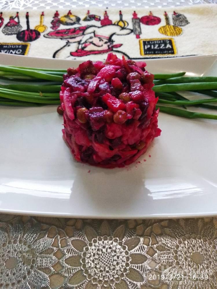 Винегрет с квашенной капустой