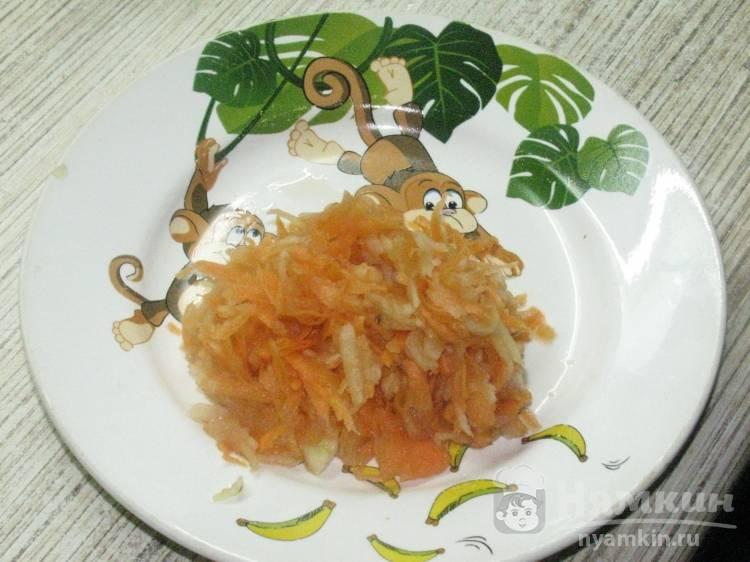 Морковно-яблочное пюре из детства