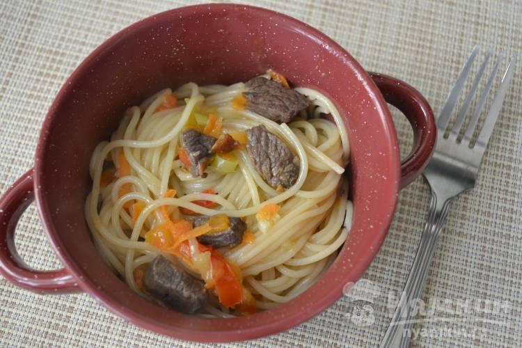 Вкусные спагетти с мясом