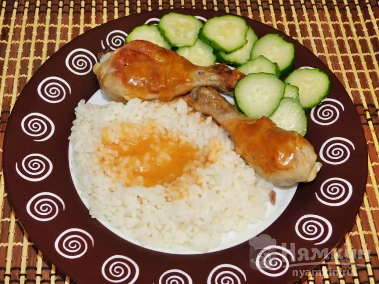 Куриные голени с овощной подливой