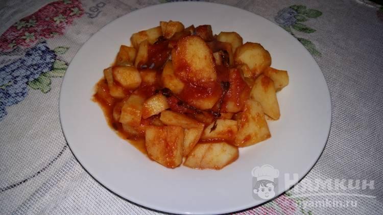 Картофель с розмарином в остром соусе