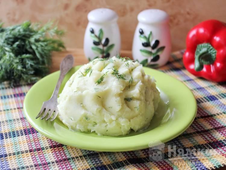 Картофельное пюре с укропом