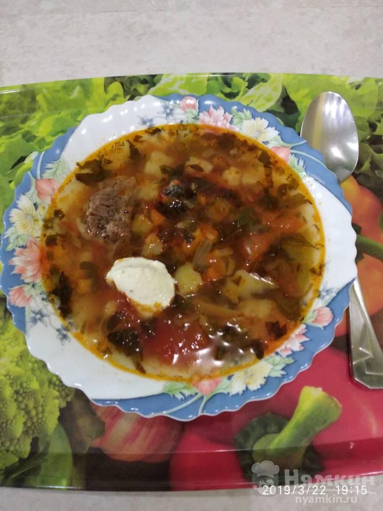 Помидорный суп на бульоне без мяса
