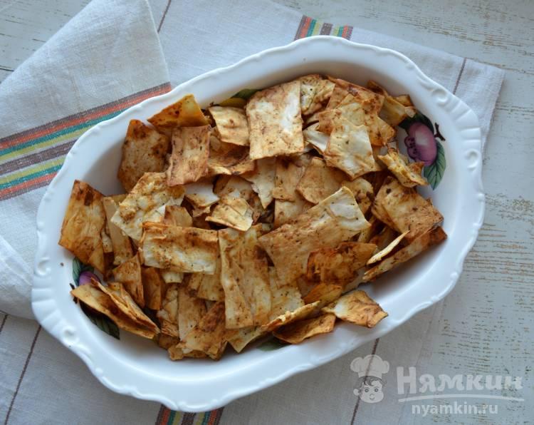 Диетические чипсы из лаваша