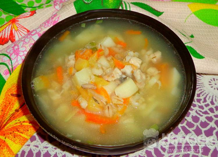 Рыбный суп из карпа с перловкой