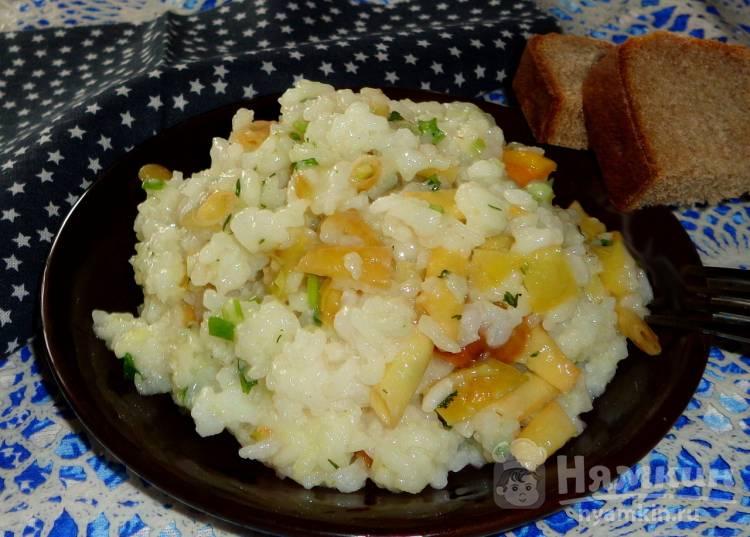 Рис со стручковой фасолью и перцем
