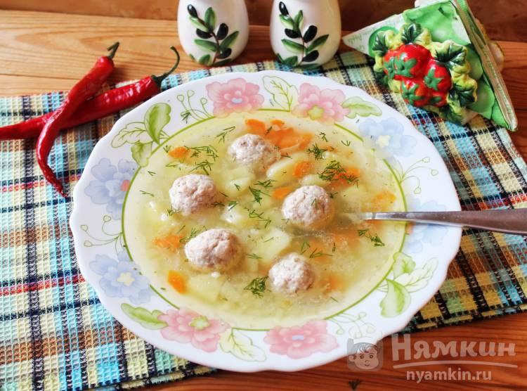 Пшенный суп с фрикадельками