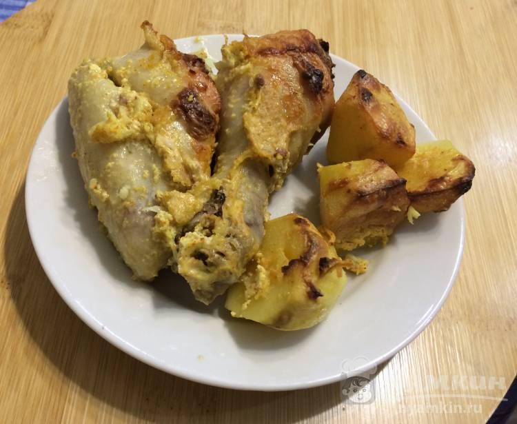 Курица в духовке в сметанном соусе