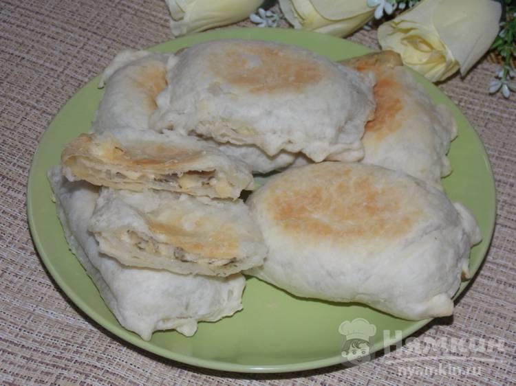 Слойки с сыром и щавелем в духовке