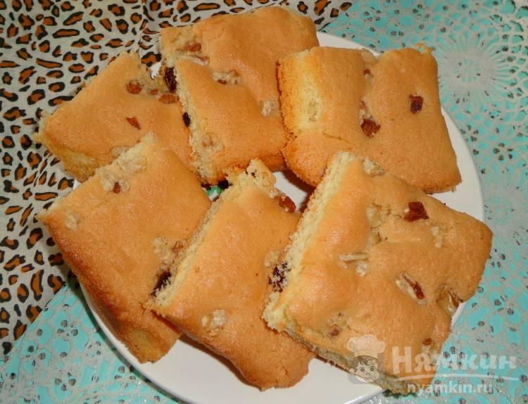 Печенье Мазурка с изюмом и орехами