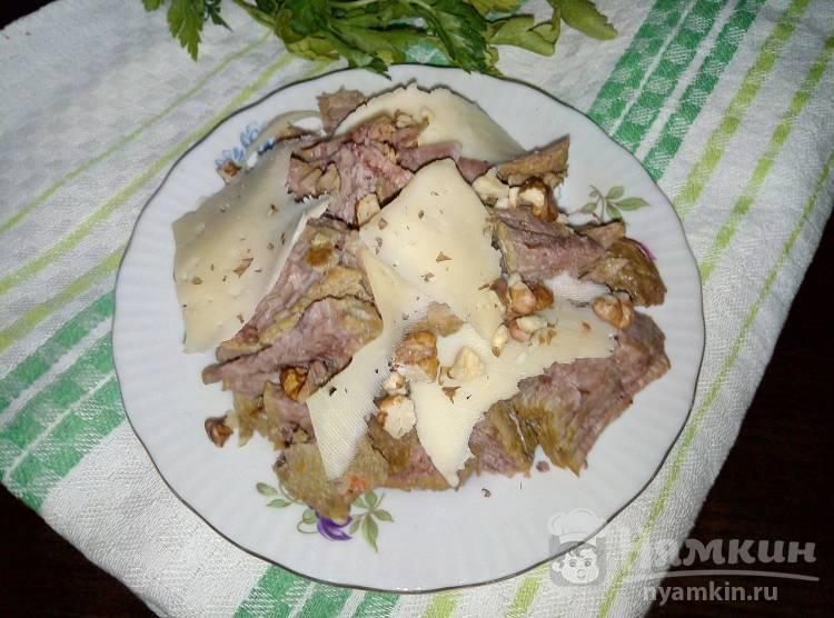 Мясной салат на скорую руку