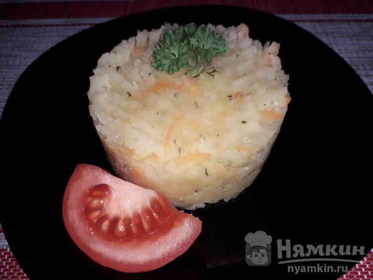 Картофельное пюре с морковью