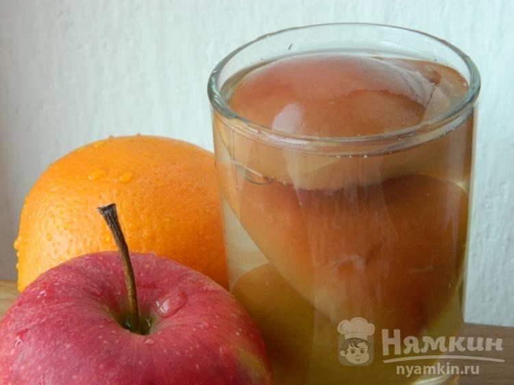 Домашний яблочный компот