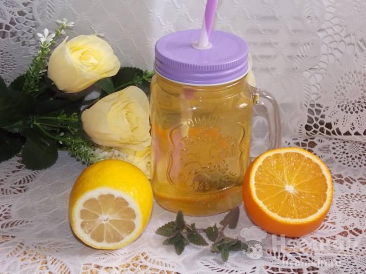Цитрусовый напиток на зеленом чае
