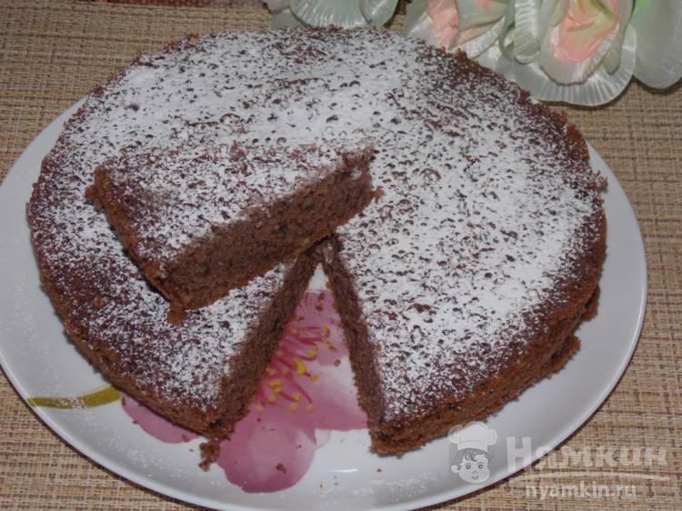 Ореховый пирог с какао в мультиварке