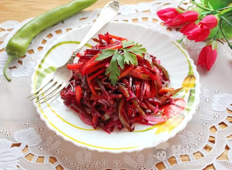 Свекольный салат с горчицей