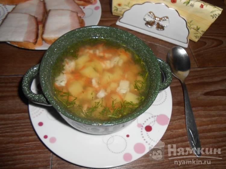 Диетический суп с куриным филе
