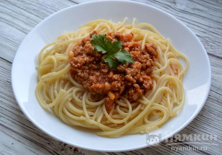 Вкусные макароны с соусом Болоньезе