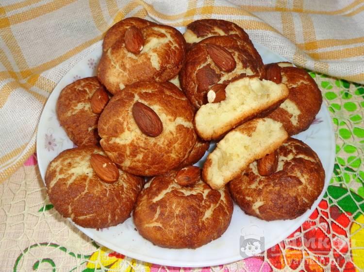 Песочное печенье с какао и миндалем