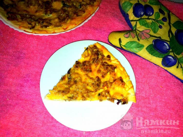 Омлет-пицца с мясным фаршем