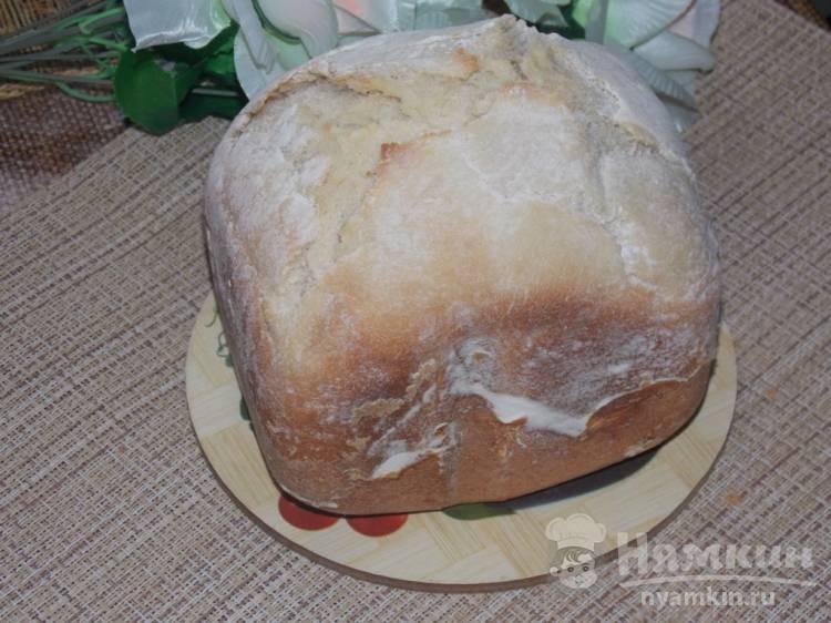 Белый хлеб с сухим молоком и сметаной в хлебопечке