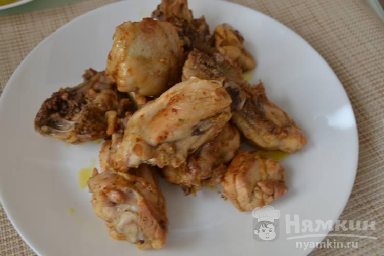 Жареные куриные бедра на сковородке