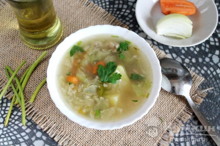 Суп с пшеном и пекинской капустой