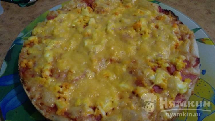 Домашняя пицца на жидком дрожжевом тесте