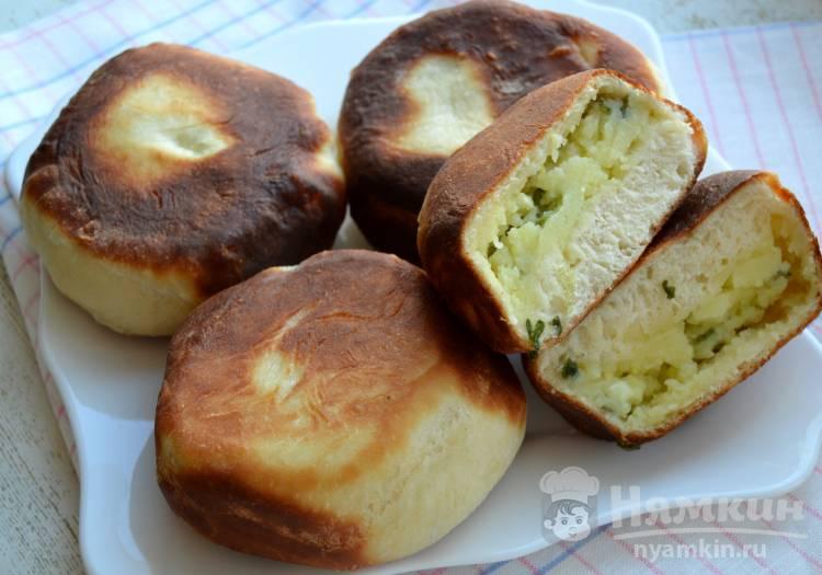 Пирожки с картошкой и зеленым луком