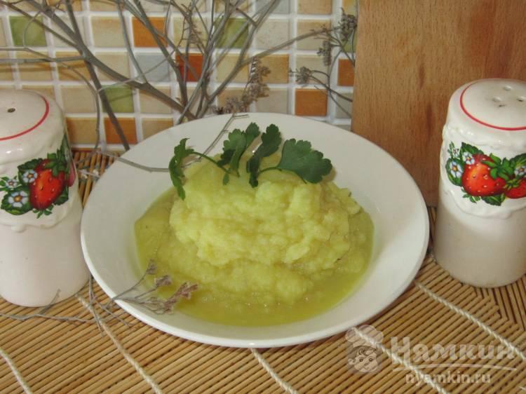 Постное картофельное пюре с шафраном