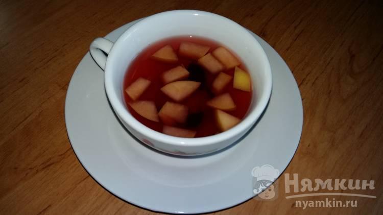 Отвар шиповника с вином и яблоком от простуды