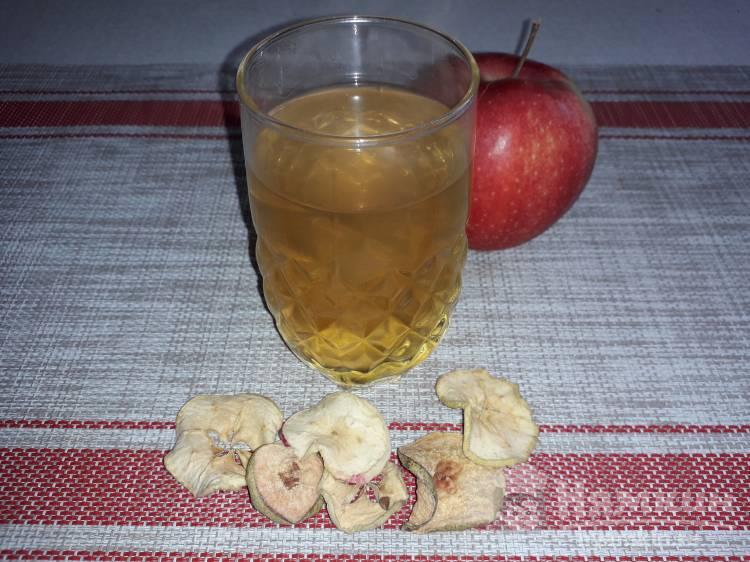 Компот из сухофруктов яблок, груши и кураги