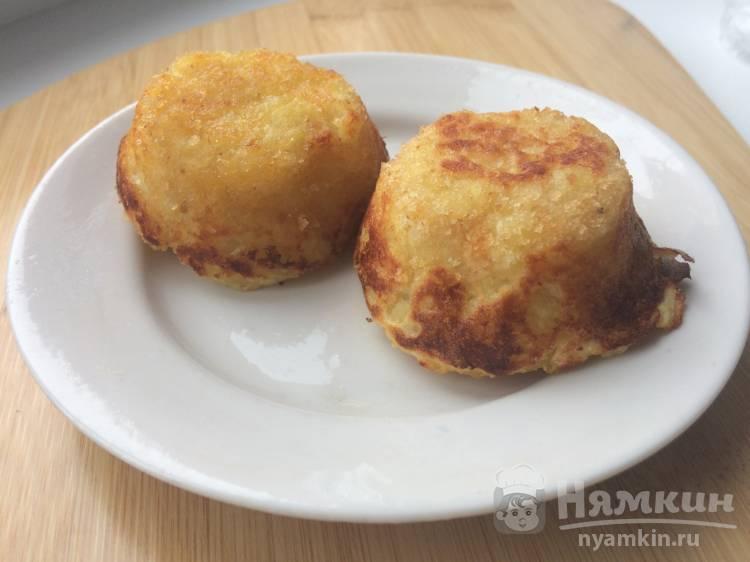 Картофельные корзиночки с шампиньонами