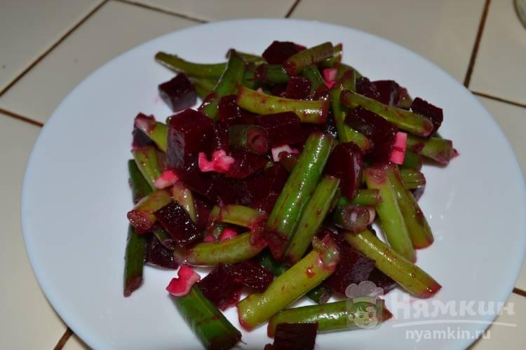 Салат из свеклы с фасолью