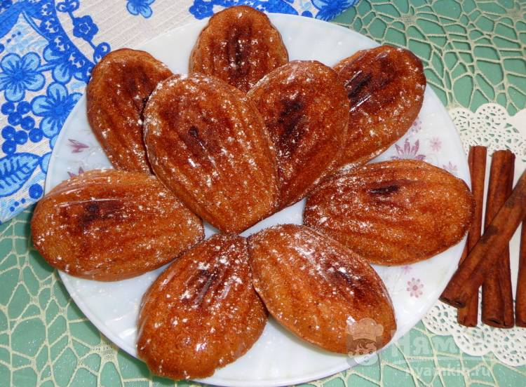 Шоколадное печенье Мадлен с корицей