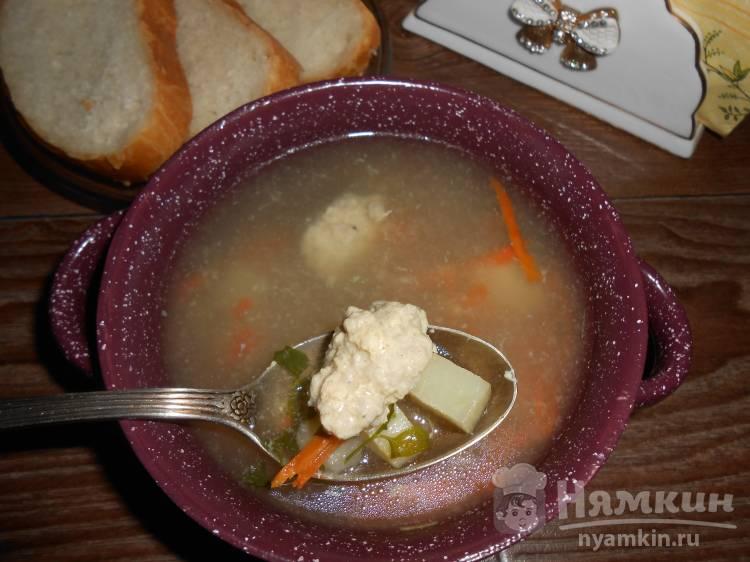 Вкусный суп с фрикадельками из индюшиного фарша