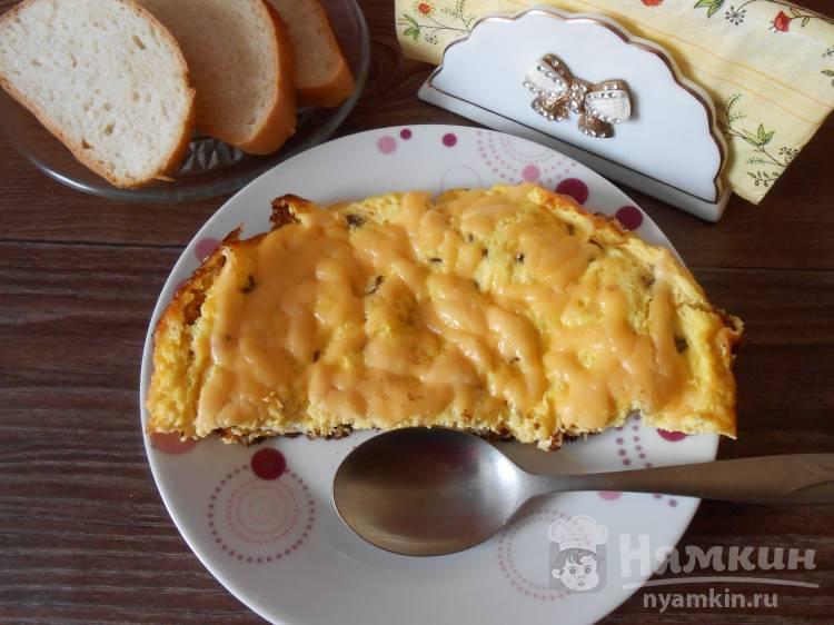 Омлет с сыром и тмином  в мультиварке
