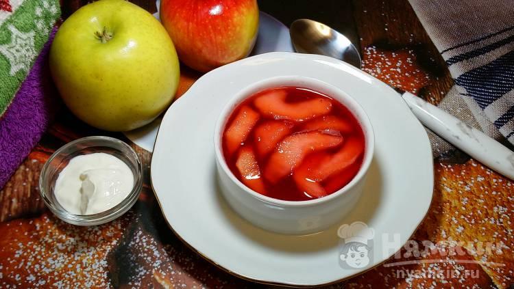 Суп из клюквы и яблок