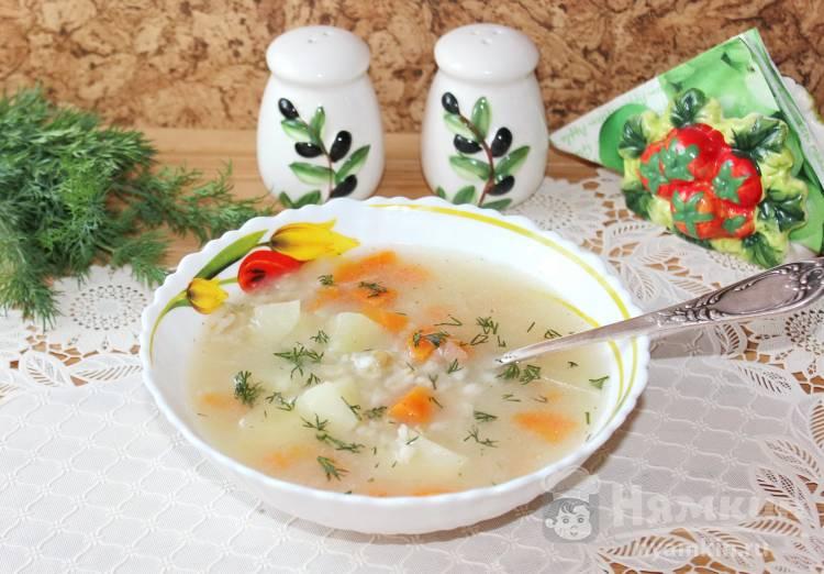 Диетический суп с овсяными хлопьями