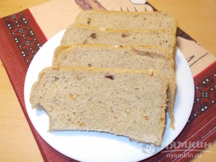Хлеб на закваске со шкварками и жареным луком