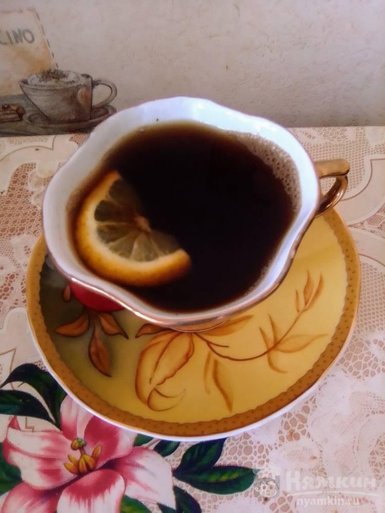 Черный кофе с лимоном