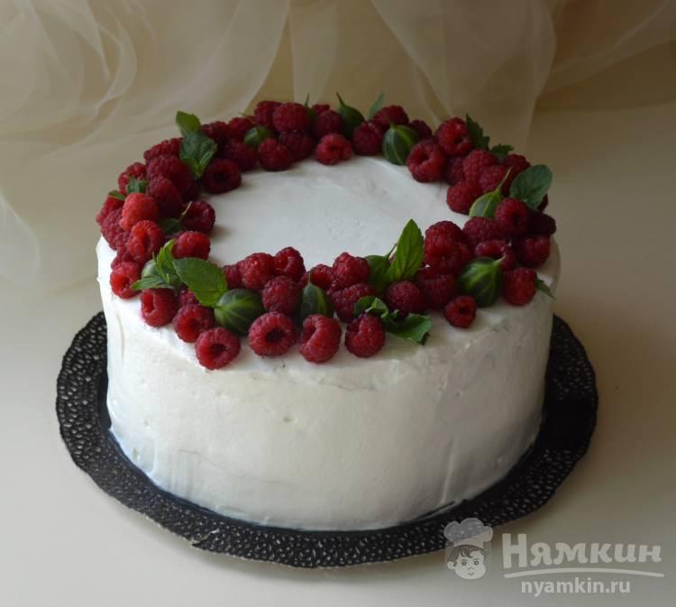 Торт Медовик с кремом Пломбир